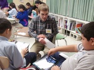 Kevin Tutoring Students, De La Salle School, Browning MT